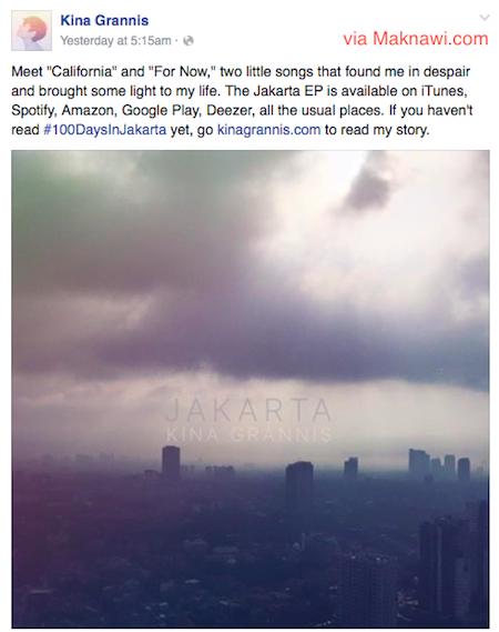 Album Kina Grannis Jakarta Berisi Lagu California dan For Now