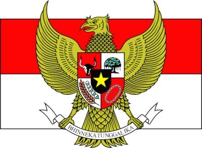 garuda pancasila bendera merah putih indonesia bhinneka tunggal ika
