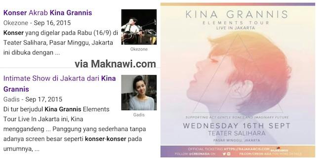 Konser Kina Grannis di Teater Salihara Jakarta Indonesia