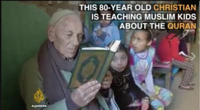 Ayad Shaker Hanna Kakek Kristen Ini Ajarkan Anak Muslim Baca Alquran