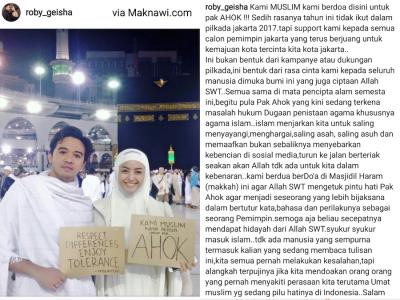 Roby Geisha Doakan Ahok di Mekkah